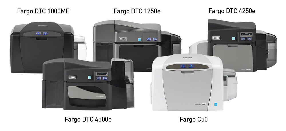 HID Fargo DTC 1000ME, DTC1250e, Fargo DTC4250e, DTC 4500e, C50 Drucker, HID Global, HID Fargo Kartendrucker