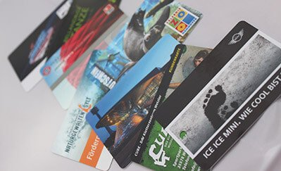 Plastic Cards, Bonus Cards, Tickets and chip cards